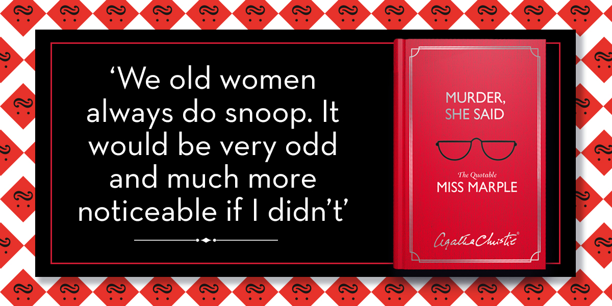 Miss Marple displays her astuteness in this charming quote book: Murder, She Said. A perfect stocking filler for Christie fans bit.ly/MurderSheSaid 🎄