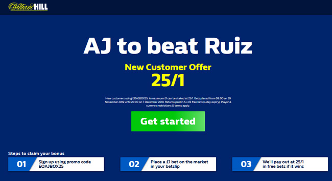 🥊 SUPER BARGAIN! 🥊  25/1 Anthony Joshua to beat Andy Ruiz Jr at William Hill!  Retweet & Claim 📲 https://www.betandskill.com/links/betting/william-hill-odds/ …  Max £1  #AJ #Joshua #JoshuaRuiz2 #RuizJoshua2 #boxing #TeamAJ #Joshua #AnthonyJoshua #JoshuaRuiz #ThursdayThoughts #ARSBHA #SHUNEW #COYG  T&Cs apply 18+