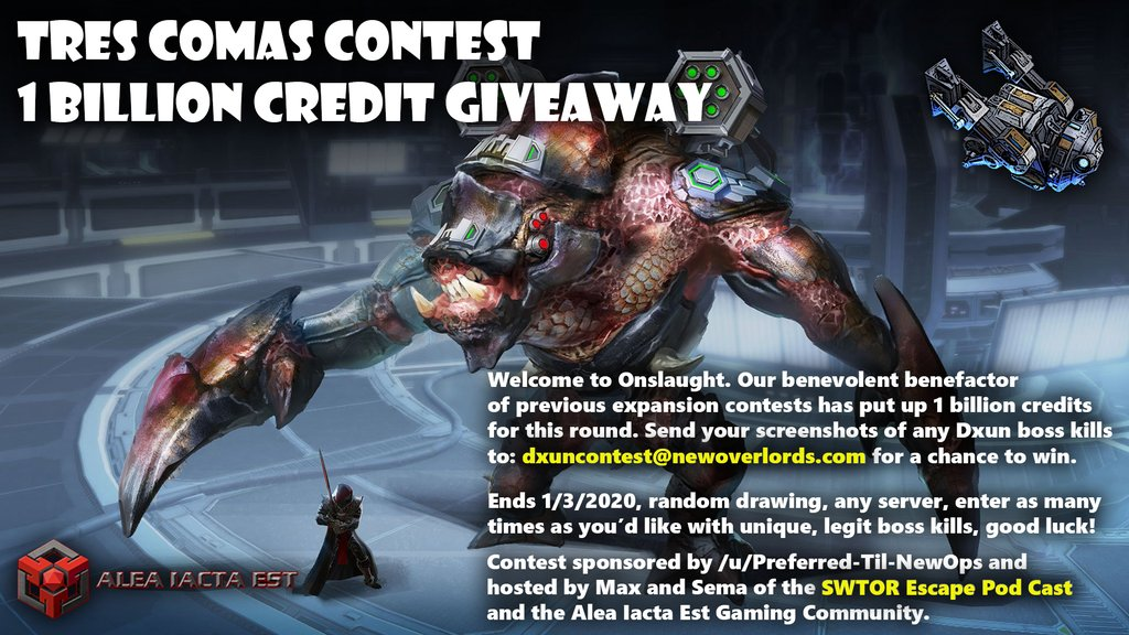 Swtorista On Twitter One Billion Credit Swtor Giveaway Wow Beat Any Boss In The New Dxun Operation And Send A Screenshot To Dxuncontest Newoverlords Com To Win Swtorfamily Enter Once For Every Any Dxun Boss Unfortunately, this teacher had no experience with swtor and reddit users jumped in to help. one billion credit swtor giveaway