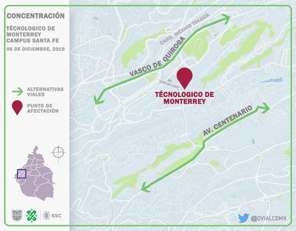 11:32 #PrecauciónVial continúa afectado un carril por manifestantes en Av. #CarlosLazo a la altura de Av. Tamaulipas con dirección a Santa Fe. Consulte aquí #AlternativaVial