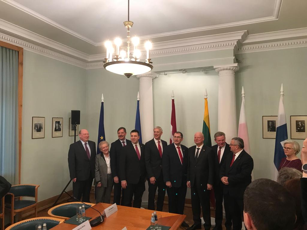 """""""Three Baltic Prime Ministers expressed very strong support and political commitment to #RailBaltica and promised…"""