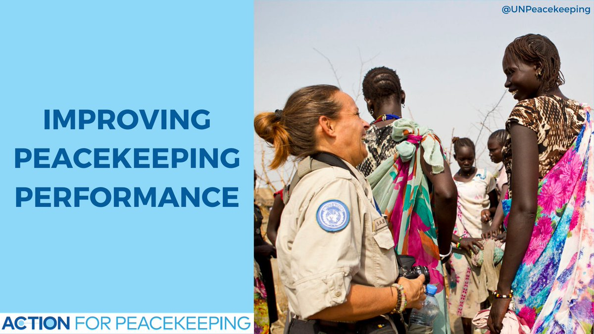 Improving peacekeeping performance across all components of missions, civilian, police and military is an integral part of Secretary-General @antonioguterres'  Action for Peacekeeping initiative. #A4P #UNSCR2436 #PKPerformance