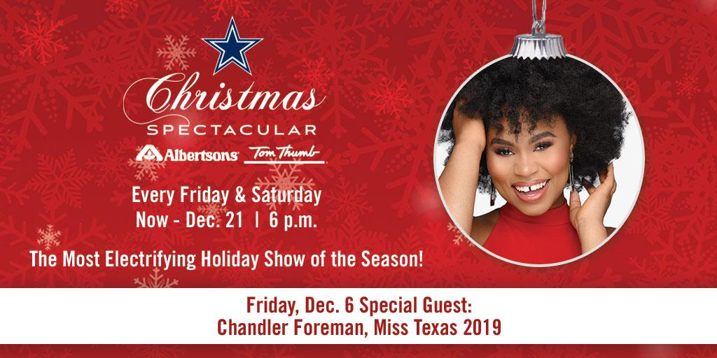 TONIGHT 🗣 Cowboys Christmas Spectacular presented by @Albertsons/@TomThumb_Stores showcasing the @DCCheerleaders & @DCRhythmBlue & special guest Miss Texas 2019❕ Admission and parking are free → short.url/aBcXyZ
