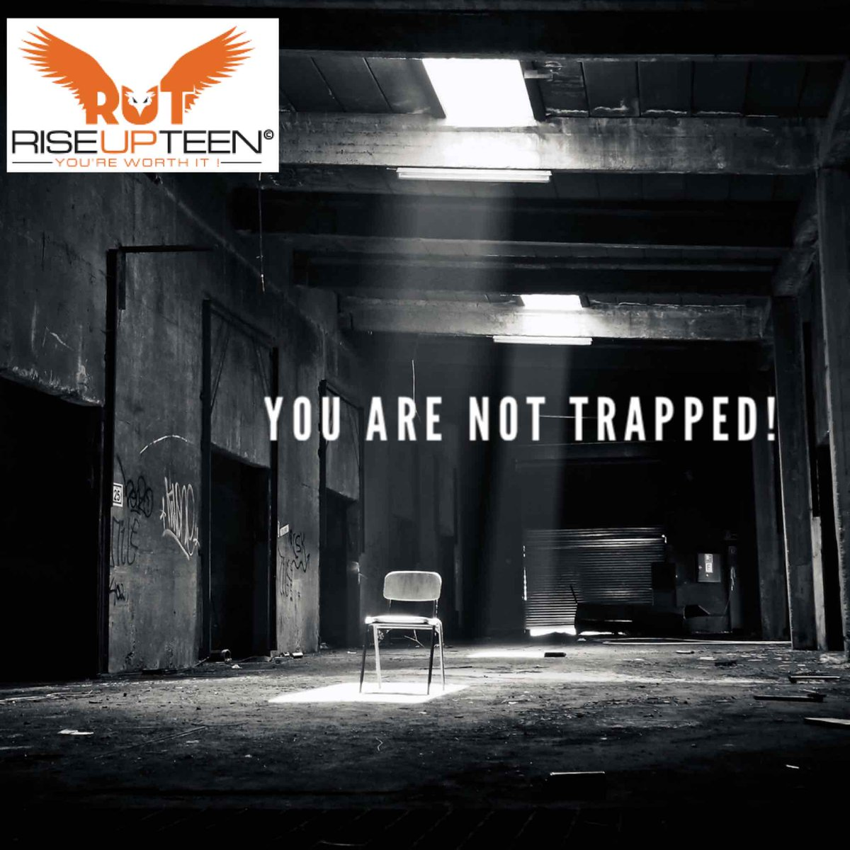 Don't you dare allow someone to make you feel like your stuck in a RUT! There is more for you. You just have to believe in yourself and push through! Its your time! #Riseupteen #RUT #Trapped #Depression #Teens #Darkness #Light #SOAR #Eagles #Dare #Believe #Motivation #Inspiration