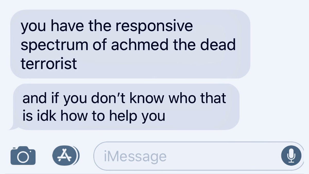 text I got the other day that hit an 11/10 on the accuracy scale  #AchmedTheDeadTerrorist #HostileFemale #IKillYou @jeffdunham