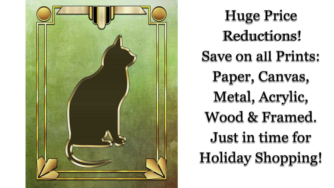 Check out our Cat Collection and see if any would look super cool in your #home, #apartment or #condo. All prints on paper, canvas, acrylic, wood, metal or framed have been reduced! Check out the new prices!    #Cats #Kitties #Chat #Cat #ArtSale #Caturday
