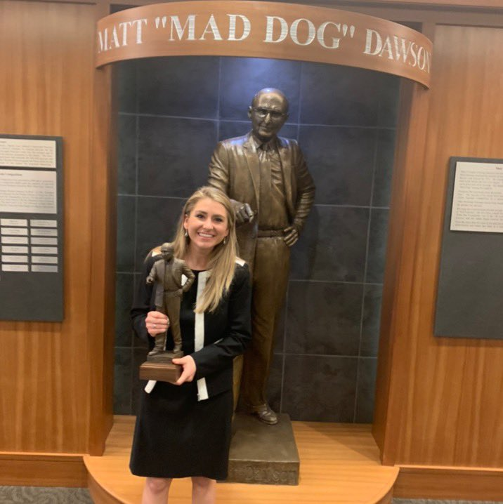 CONGRATULATIONS to Tori Coates, the winner of this winter's Mad Dog mock trial competition!!  She bested 30 other students in single elimination competition over the course of this week to prove that she's the best Baylor Law has to offer!!   #WeCompete #WeWin #WeAreBaylor<br>http://pic.twitter.com/yjjuFyfwej