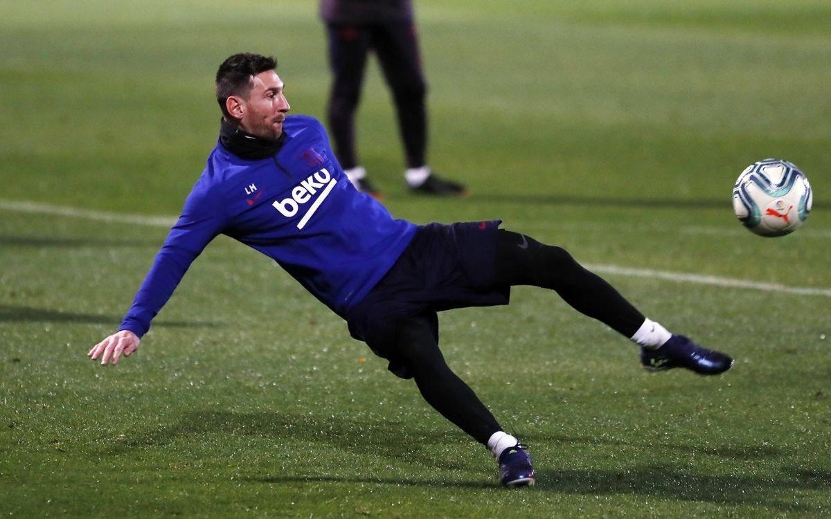 Today's training   #Messi   #WeAreMessi
