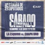 Image for the Tweet beginning: ¡La Esquina y Chapa Uno