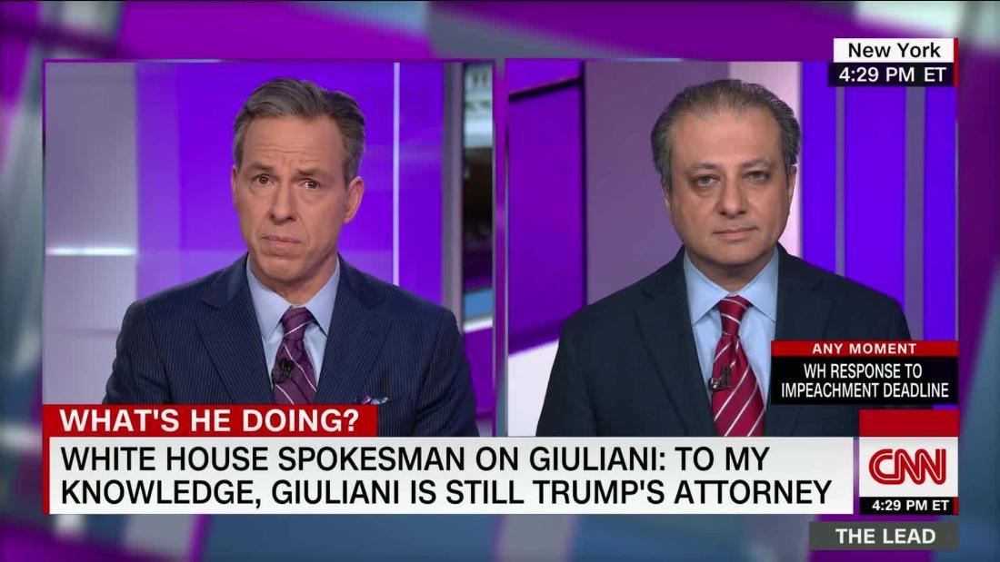 .@PreetBharara: Giuliani's actions in Ukraine put himself in jeopardy cnn.it/38dbHLX