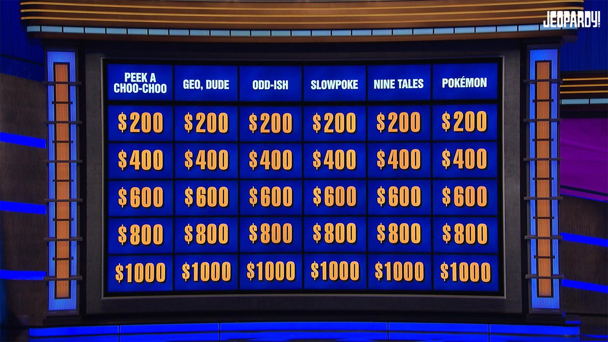 Pokemon Was A Category On Jeopardy Tonight, See The Questions Here - GameSpot