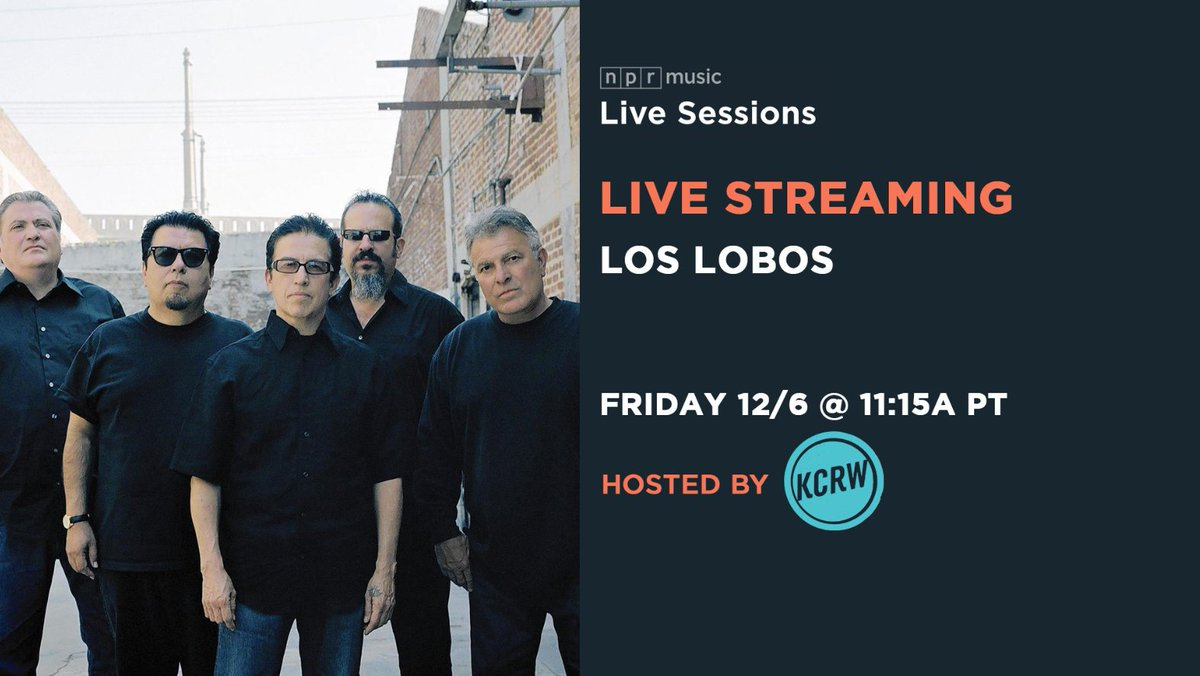 Happening soon on NPR Live Sessions: Watch @LosLobosBand perform from the @mbeKCRW studios. n.pr/2DPiRIy