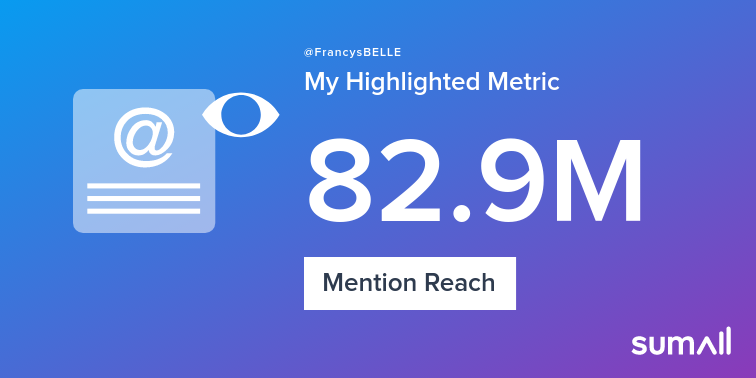My week on Twitter 🎉: 468 Mentions, 82.9M Mention Reach, 321 Likes, 34 Retweets, 407K Retweet Reach. See yours with sumall.com/performancetwe…