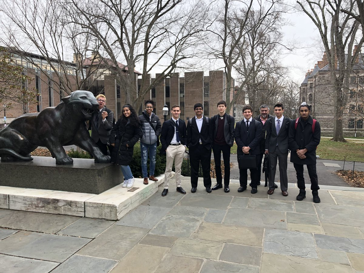 NFA Debate with the Princeton Tiger moments before competition begins!!!