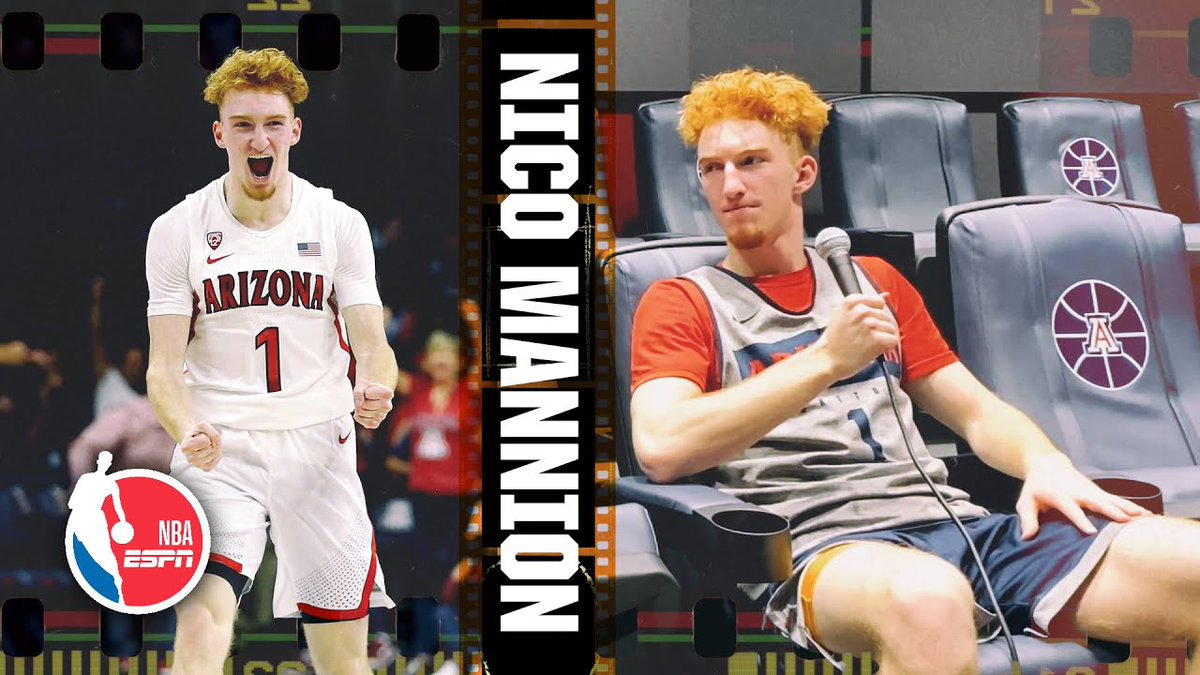 New on ESPN YouTube: 25-minute Film Room Breakdown with Arizona's Nico Mannion, arguably the top PG prospect in the NCAA. https://www.youtube.com/watch?v=WFgj9gCGldQ&feature=youtu.be…