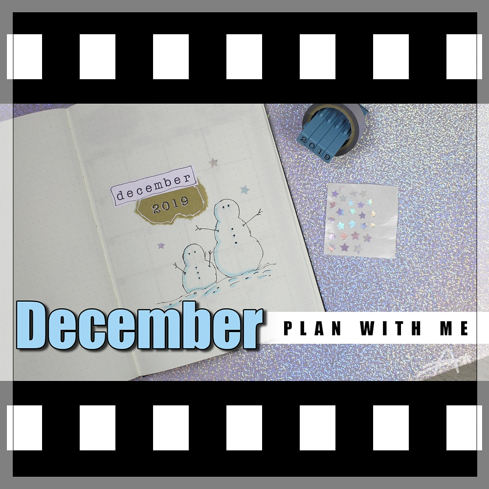 Last one of this year. Watch me setup this beautiful theme for #December. #Video link in my bio 😊  #bujo #bulletjournal #bulletjournaljunkies #bujojunkies #bulletjournaling #bulletjournallove #leuchtturm1917 #stayorganized #planwithme #blue #snowman #holographic #AmazingAndrea
