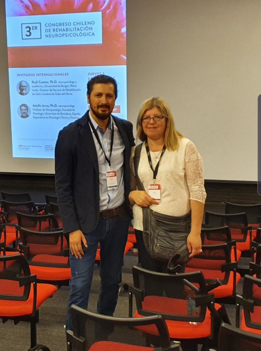 Nuestros amigos Mónica y Germán participaron del 3° Congreso Chileno de Rehabilitación Neuropsicológica organizado por la UDP. Les dejamos algunas imágenes con su presentación y el importante trabajo que hacen en CCR Pudahuel. #ACV #Neurología #Neuropsicología #Rehabilitación