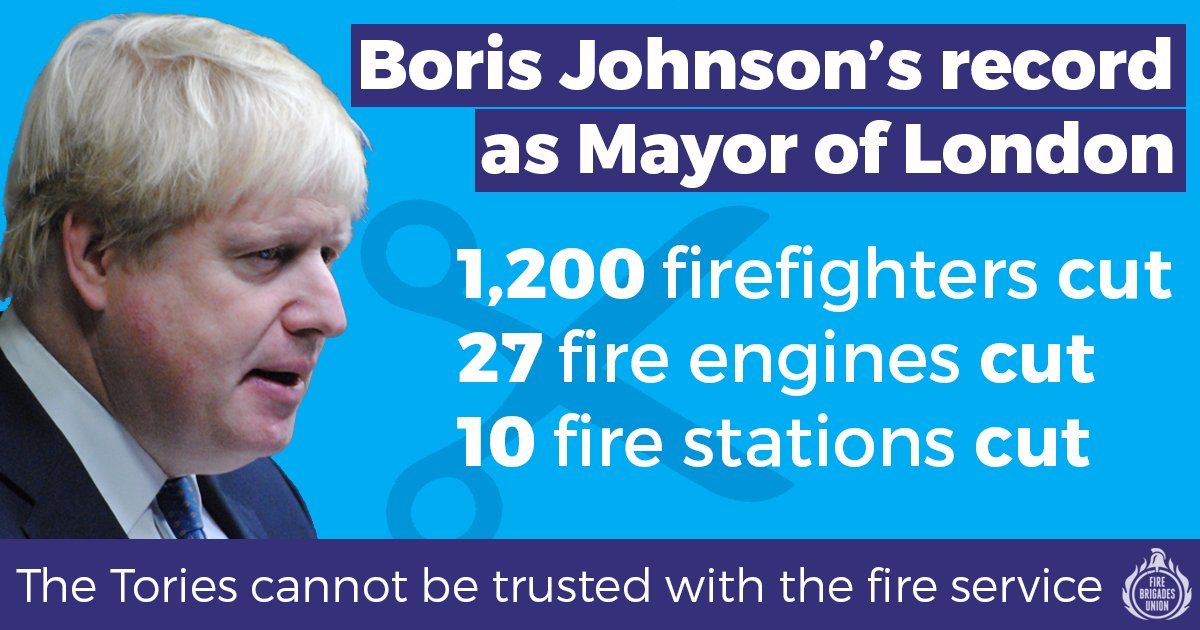 Hey @BorisJohnson! You werent fit to run the London Fire Brigade. What makes you think youre fit to run the country? #GE19 #LeadersDebate #BBCDebate