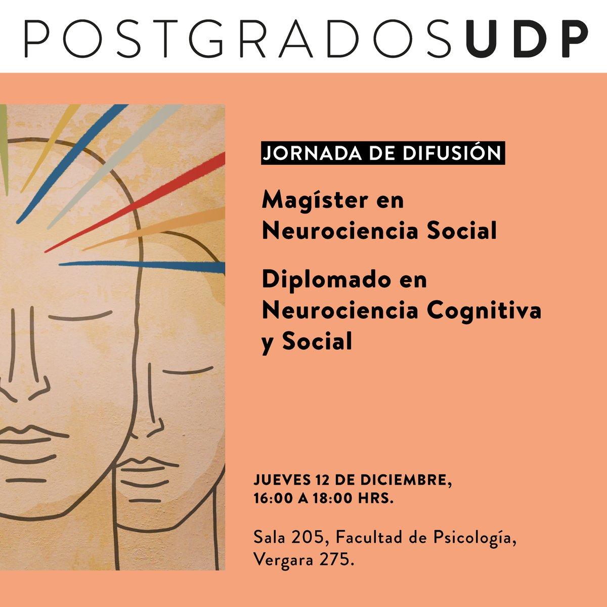 Tendencias en Neurociencia Social 12 de diciembre, 16:00 hrs. Actividad gratuita.  Información, cronograma e inscripciones:   #Neurociencia #NeurocienciaSocial #Psicología #Neuropsicología