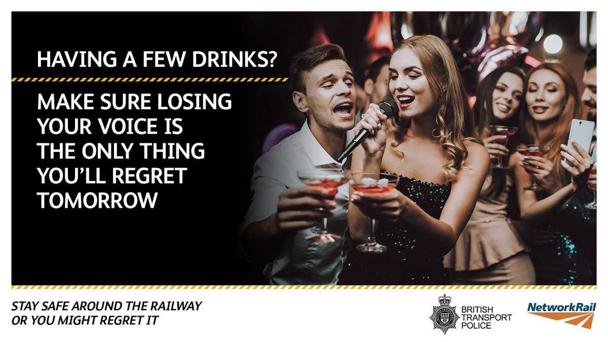 test Twitter Media - 🎄 As Christmas approaches, we're encouraging safety around the railway after a few drinks. 🍻🍷  Don't let unsafe behaviour lead to more than the usual drunken regrets:  ➡️ https://t.co/MOccr1kHzM  #NextDayRegrets @BTP https://t.co/LMyI7KDmae