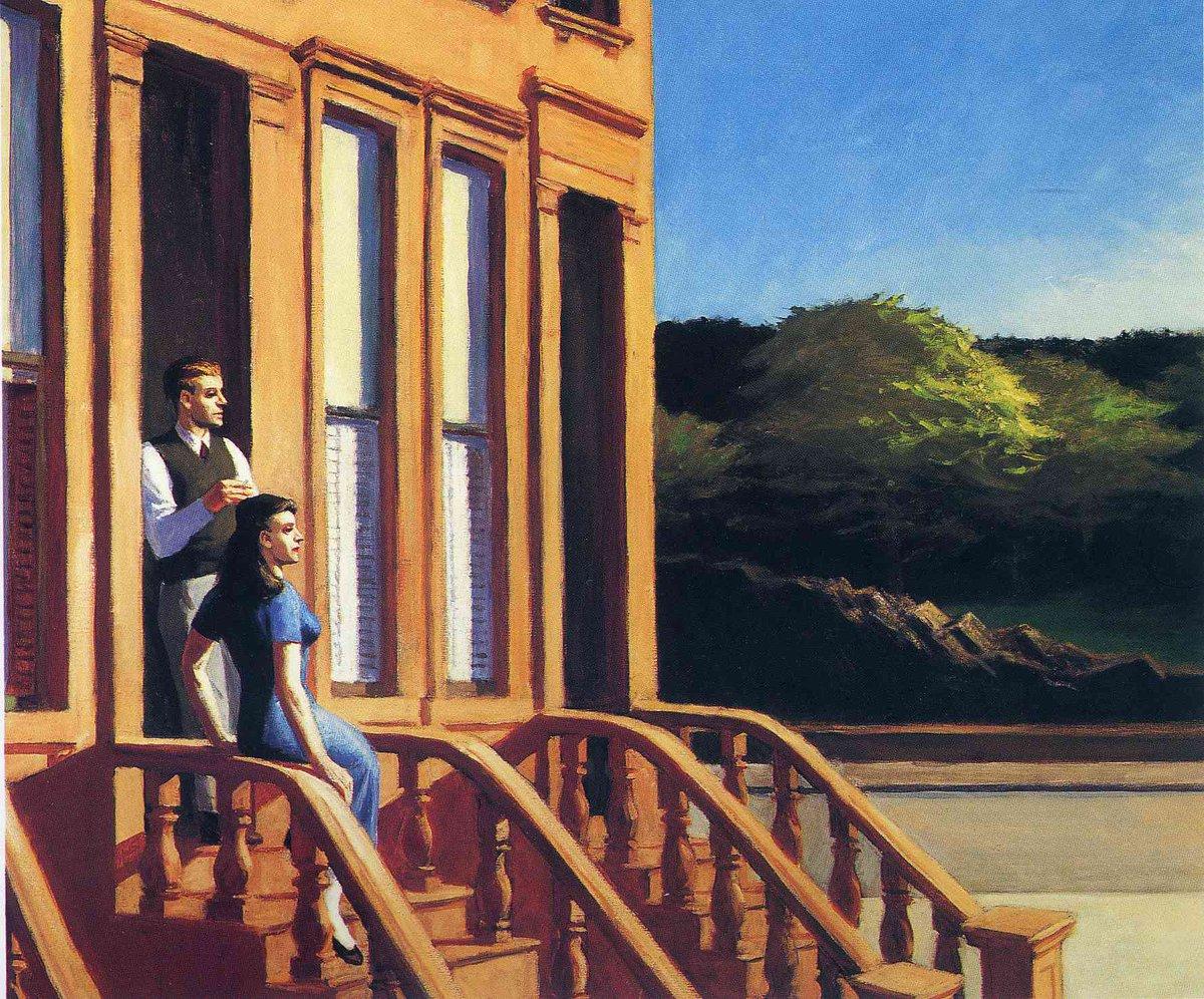 Sunlight on Brownstones, 1956 #newrealism #edwardhopper<br>http://pic.twitter.com/B1DqFlgMlU