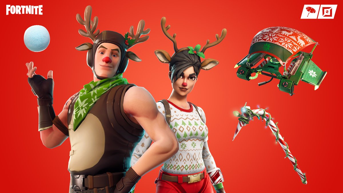 Up to antler antics 🦌 The Red-nosed Raider and Red-nosed Ranger Outfits are available in the Item Shop now!