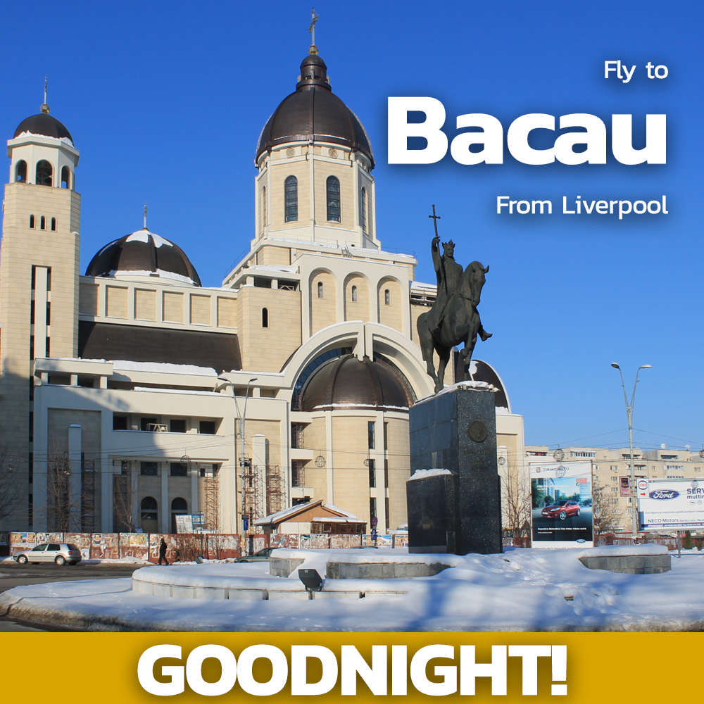 Good Night  ! Dream big and visit the beautiful city of Bacau where you'll find gorgeous natural spaces and breath-taking architecture - the perfect alternative city break     Book now with @FlyBlueAir  https://ljla.uk/2x1EAXW   #wherenext #FlyLPL #Bacau pic.twitter.com/VfaTpNo0Qo