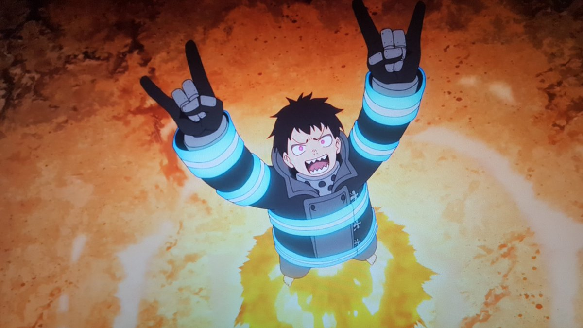 🔥🔥 Shinra 🔥🔥 Is Ready To Rock! Throw Your hands Up & Celebrate Friday 🤘🤘 #FridayFeeling #FireForce #Toonami #FridayMotivation