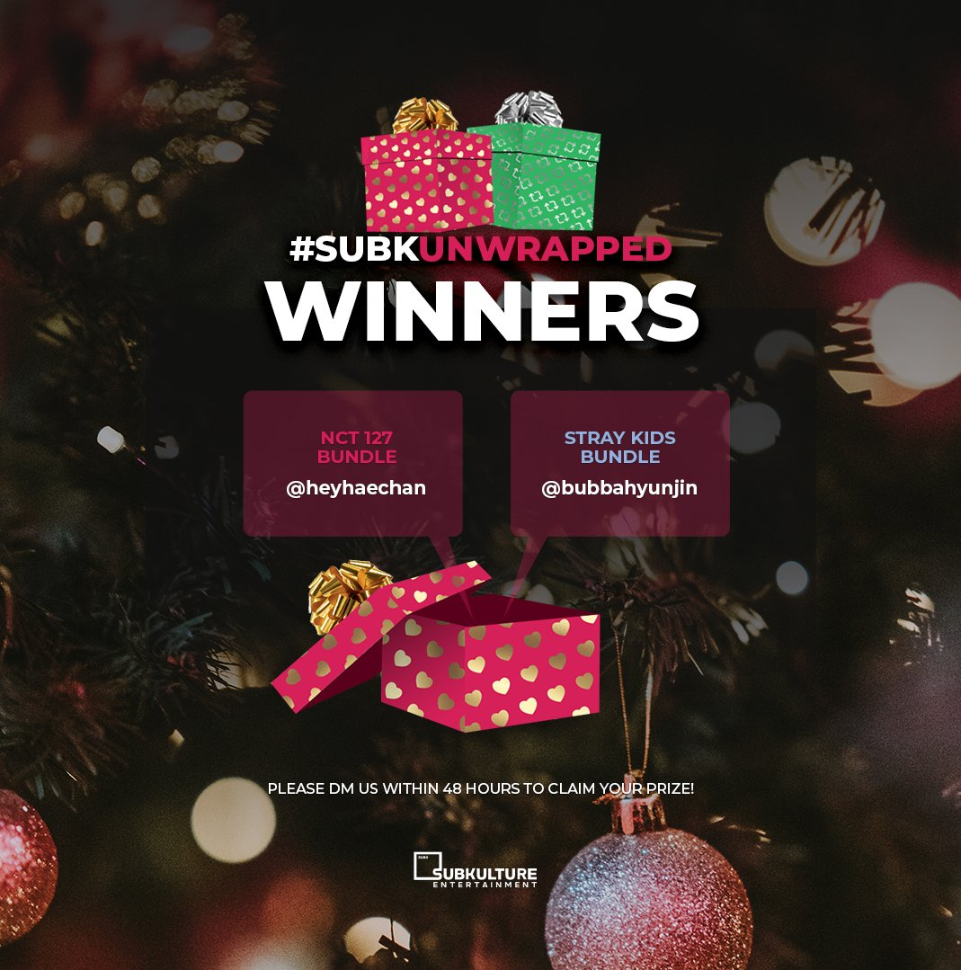 Christmas came a little early for two SubK Squad members 🤩 Congratulations 🎉 to the winners of our #SubKUnwrapped giveaway 🎁 Please DM us within 48 hours to claim your prize 💌  🗣️ Be sure to tune in on Monday, 12/9 for our next #SUBKHOLIDAYGIVEAWAY19 reveal ✨ https://t.co/wMrCahZJoV