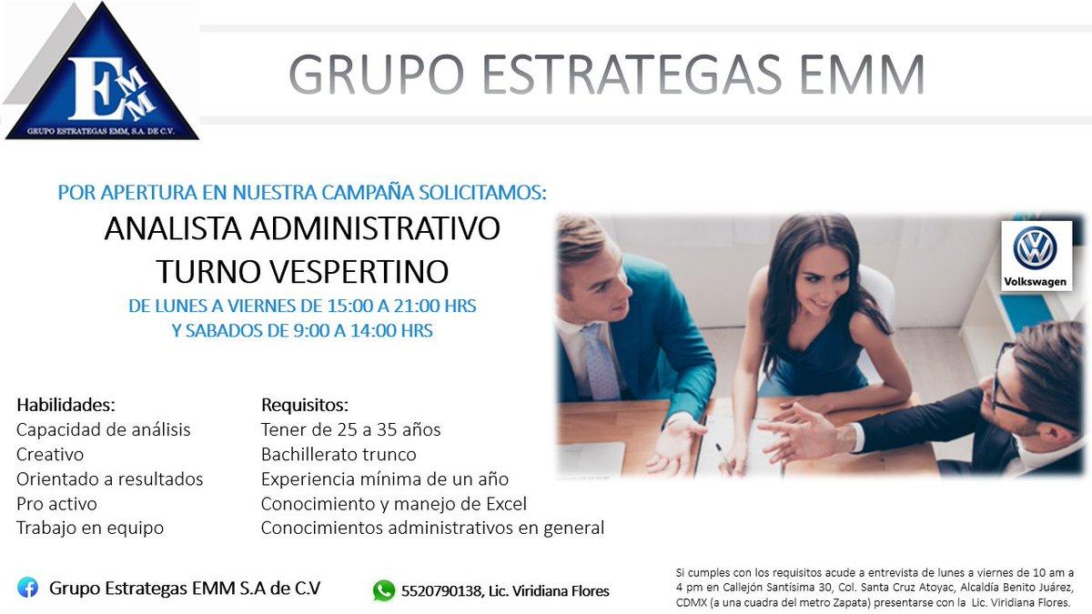 #vacantes #empleate @VacantesMexico @empleogob_mx @AlertasEmpleo @AlertasTrabajo @AlertasdeEmpleo @AClasificadospr En búsqueda de tu talento, trabaja de lunes a sábado por la tardes. ¡Contratación inmediata! Informes al 41702900 ext 1012, preguntar por la Lic. Viridiana Flores.pic.twitter.com/By3ucSz6VM