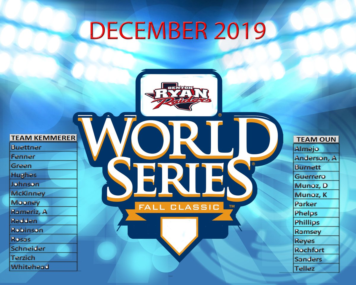 Off Season World Series starts today Coach K vs Coach Oun  Teams are chosen - best of 5 games starts at 3:15!!!  #itsagreatdaytobearaider  #wecompete <br>http://pic.twitter.com/oDQPrXQfjn