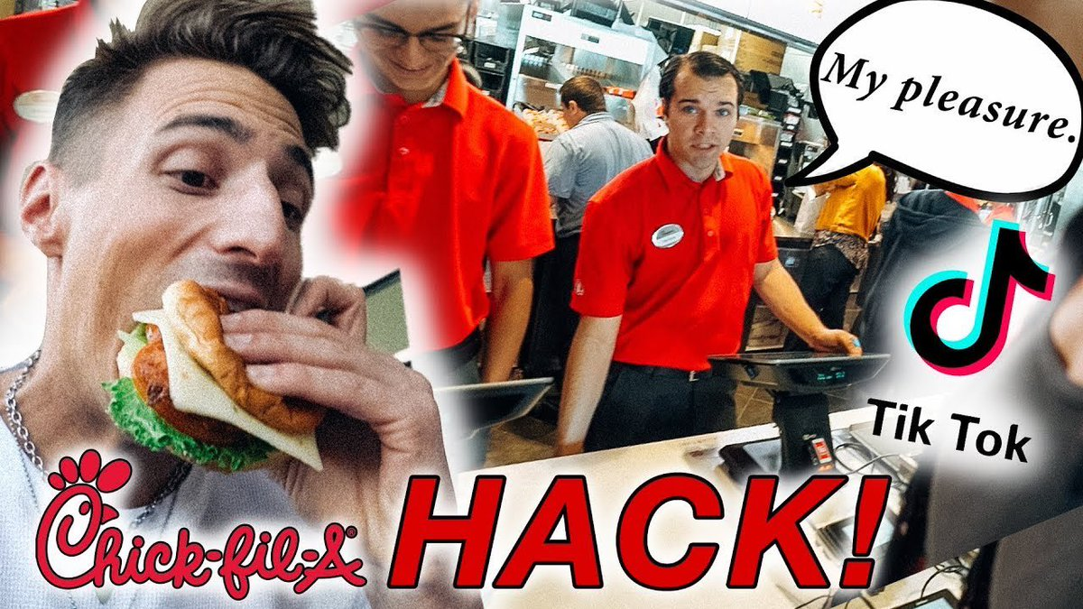 I tested the @tiktok_us hack at @ChickfilA for a secret menu item! 😜 RT and watch to see if it worked! youtu.be/DnQePBvmzOo