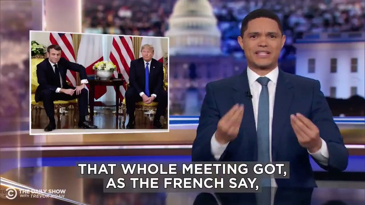 Trump and Macron beefed at the NATO summit. Full coverage: http://bit.ly/2RsiR9x