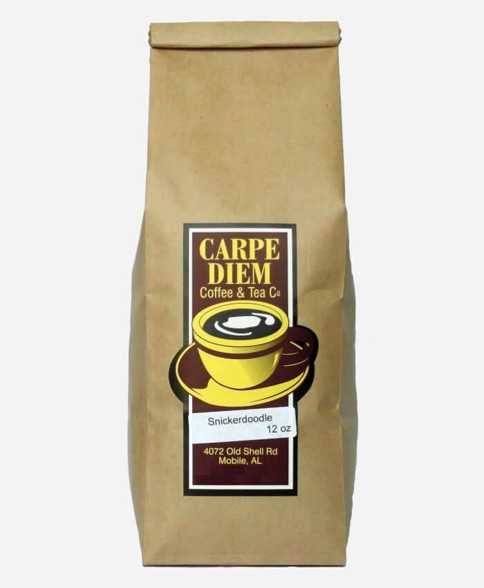 Carpe Diem Snickerdoodle coffee will envelop you in warm cinnamon and hazelnut - just like Grandma's cookies. Order Now 🎁  Your Coffee is Freshly Roasted For You When Ordered #snickerdoodle #mediumroast #coffee #caffeine #gifts #stockingstuffers #christmas