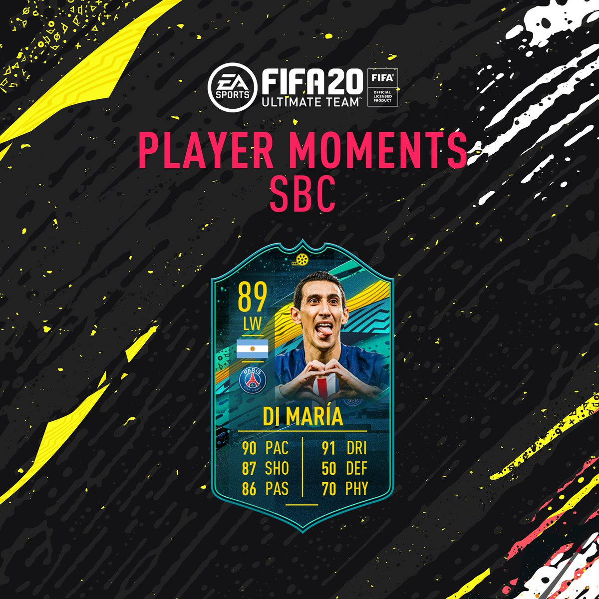 A brace ⚽️⚽️ against his old club in this years @ChampionsLeague 🙌 Di Maria 🇦🇷 Player Moments SBC is available in-game! #FUT20