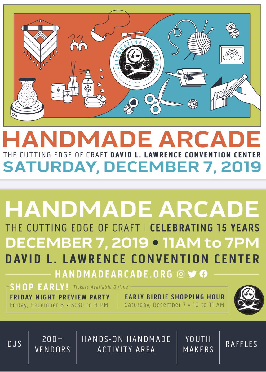 Come see us tomorrow at the Handmade Arcade downtown at the Convention Center. We will be selling Holiday and Pittsburgh themed items from 10am to 4pm! We will be in the Pop-Up Maker Mart! #edcorps  @HPEPBSD  @RWScholars  @EdCorps  @CMDunn45