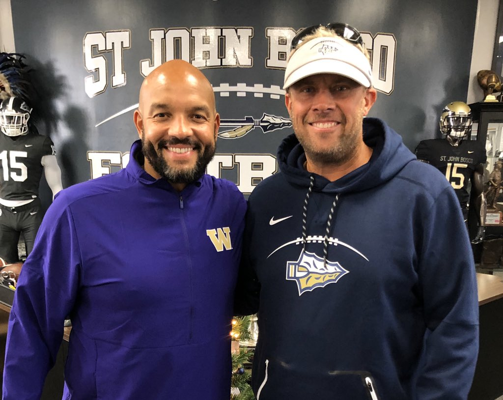 It's not to often that we at Bosco FB post coaches pics but this one is going up!  Congrats to Jimmy Lake the new HC at Washtington. One of the great men in our game! #Woof<br>http://pic.twitter.com/WCDASRhDx5