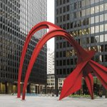 "For #NationalIllinoisDay, here is Calder's iconic sculpture ""Flamingo,"" commissioned by GSA's Art in Architecture program for the John C. Kluczynski Federal Building in Chicago, #Illinois. Learn more: https://t.co/mGDf0p8yMB"
