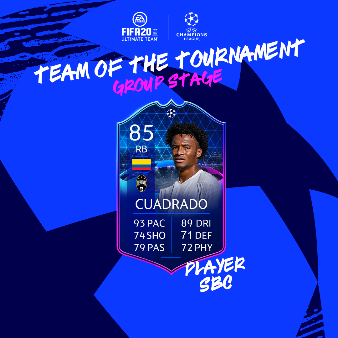 New position? No problem for @Cuadrado 🇨🇴! #TOTTGS SBC available in-game now! #FUT20