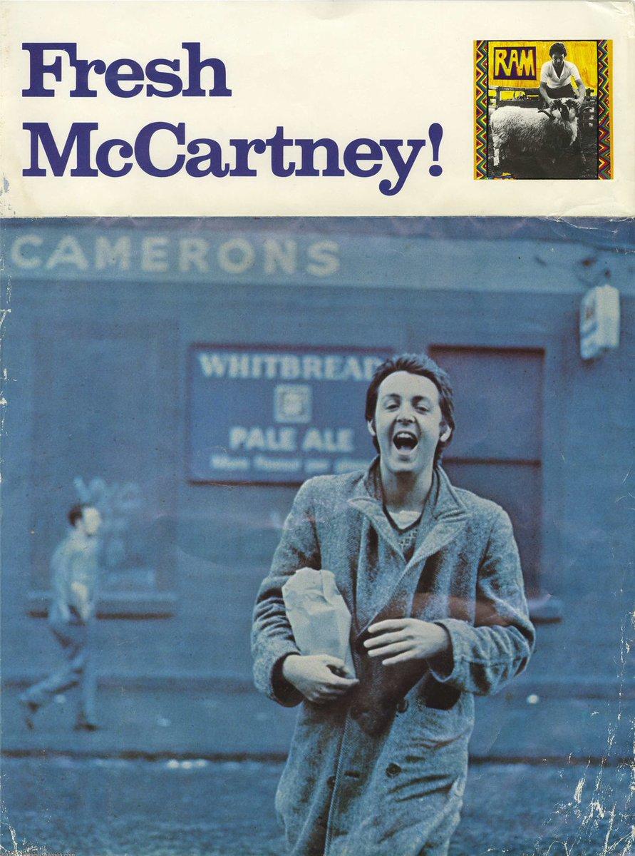 Beautiful 1971 ad for @PaulMcCartney and Linda's 'Ram', still my favourite Paul ulp. <br>http://pic.twitter.com/q4ZWMV468E