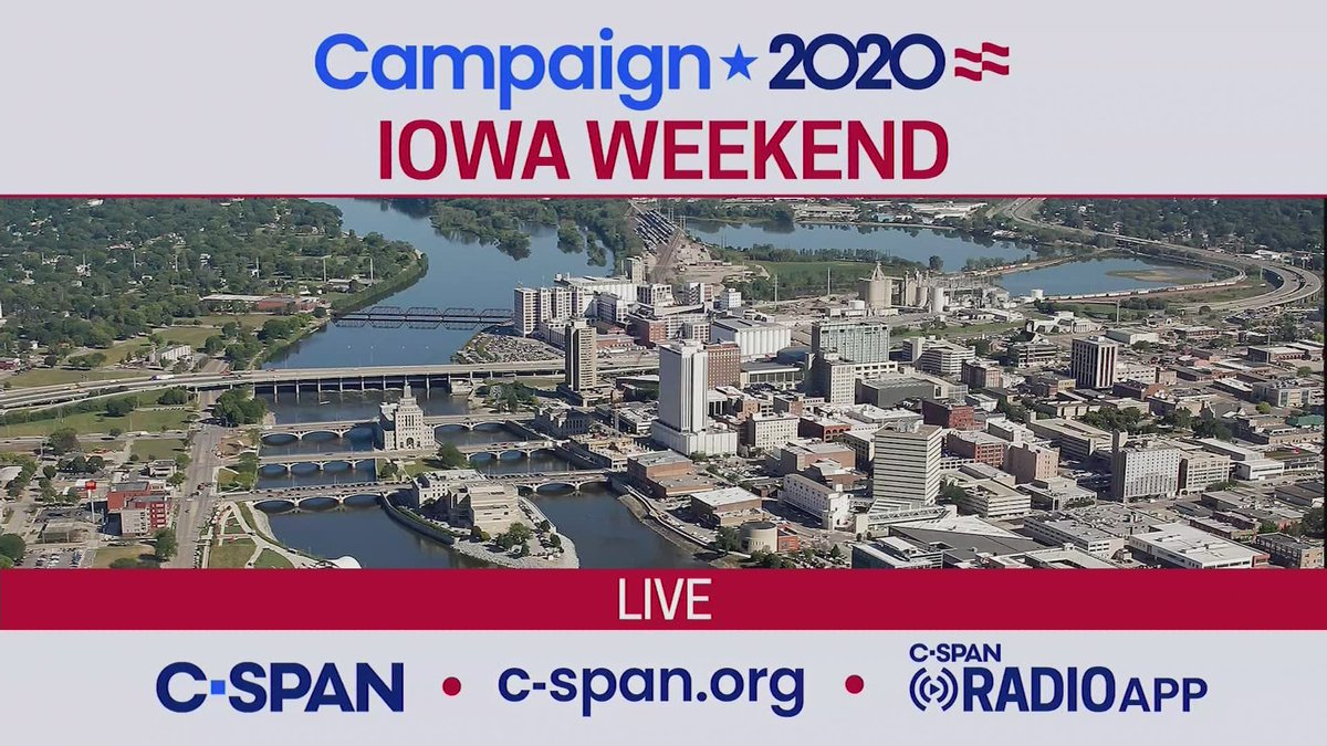 C-SPAN Campaign 2020 coverage LIVE from IOWA this weekend. More info here: cs.pn/2s680ra