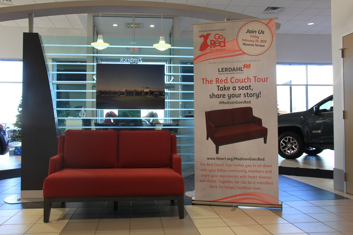 The Red Couch Tour is on the move in Madison and you're invited! The Red Couch Tour is a space where you can take a seat, talk with your neighbors and share your stories with each other. Stop by Zimbrick FHR during the week of Dec 9th, find this Red Couch and tell us your story!