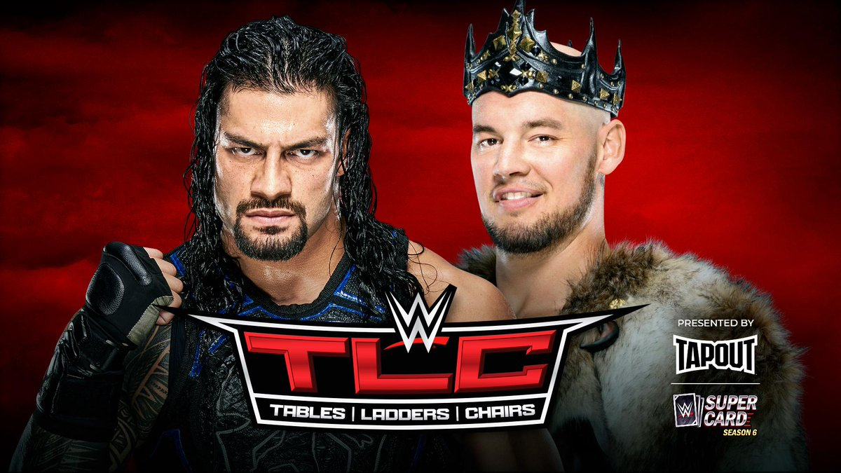 JUST ANNOUNCED: #TheBigDog @WWERomanReigns will battle King @BaronCorbinWWE in a #TLCMatch at #WWETLC! http://wwe.me/Cnp2rd