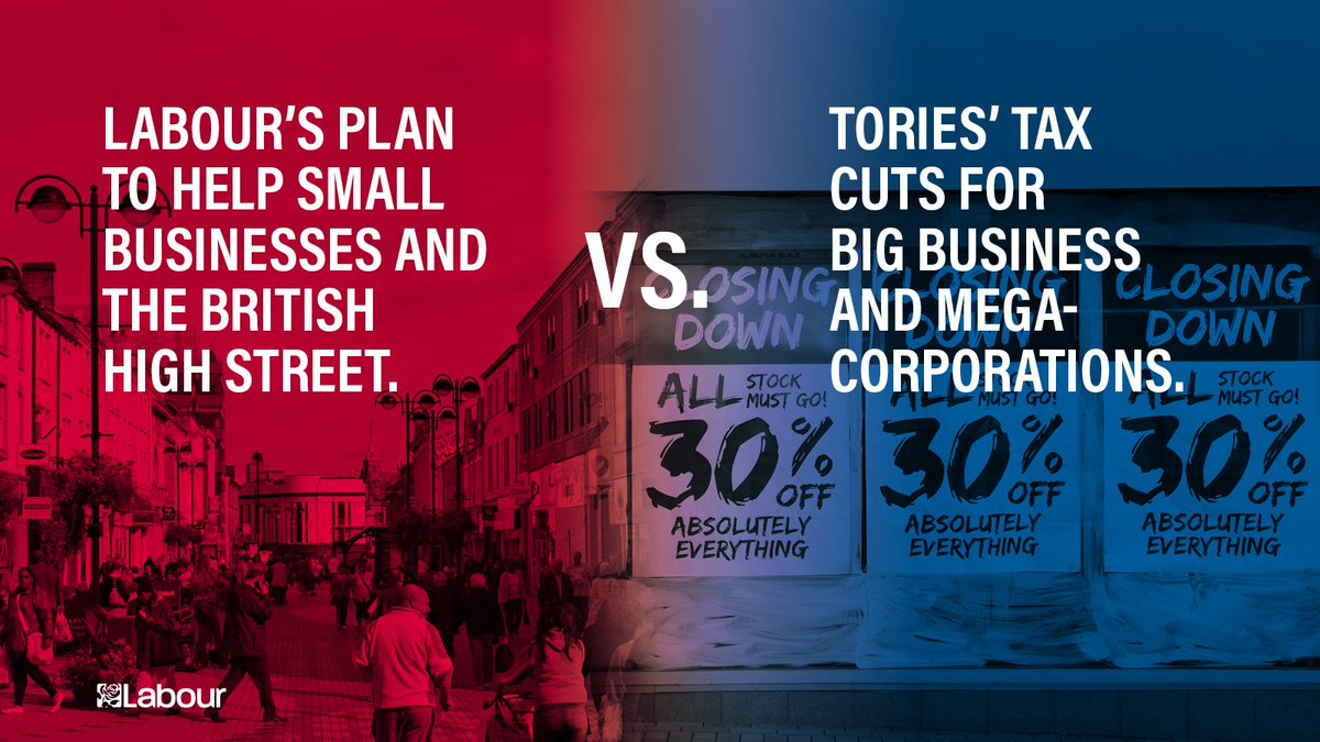 We know that small businesses and high streets and struggling. Heres our plan to make sure small businesses are thriving 👇 labour.org.uk/20-pledges-for…