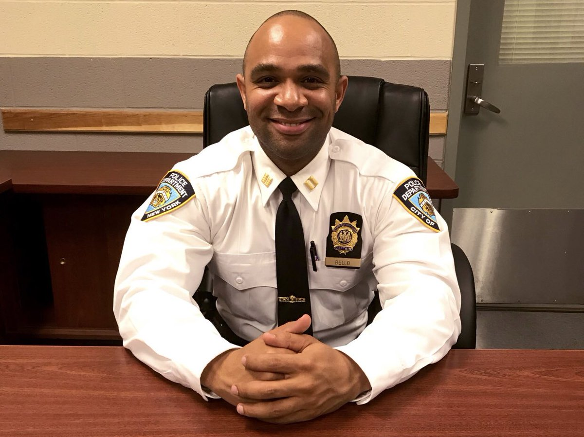 Last night, after hearing about 2 robberies that took place in the @NYPD33Pct , Captain Bello, the Commanding Officer, took to the streets he also grew up on. He quickly apprehended an unrelated phone snatcher & 2 robbery suspects. All in a night's work for this NYPD  exec!