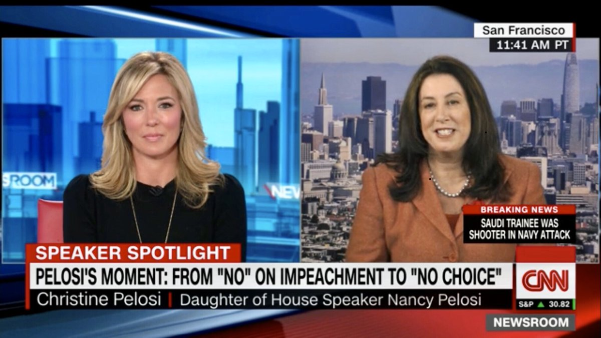 @sfpelosi (Christine Pelosi, @SpeakerPelosi's daughter) has a message for Trump:    https://www. cnn.com/videos/politic s/2019/12/06/nancy-pelosi-daughter-christine-trump-comment-nr-vpx.cnn  …   #DontMessWithNancy  #ImpeachmentTaskForce<br>http://pic.twitter.com/it6qXAxDF2