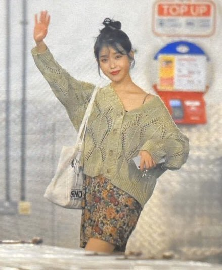 IU's hair in a bun and that cardigan slipping off on her shoulder she looks so comfy but lookin hot at the same time <br>http://pic.twitter.com/LmA9FRuFT2