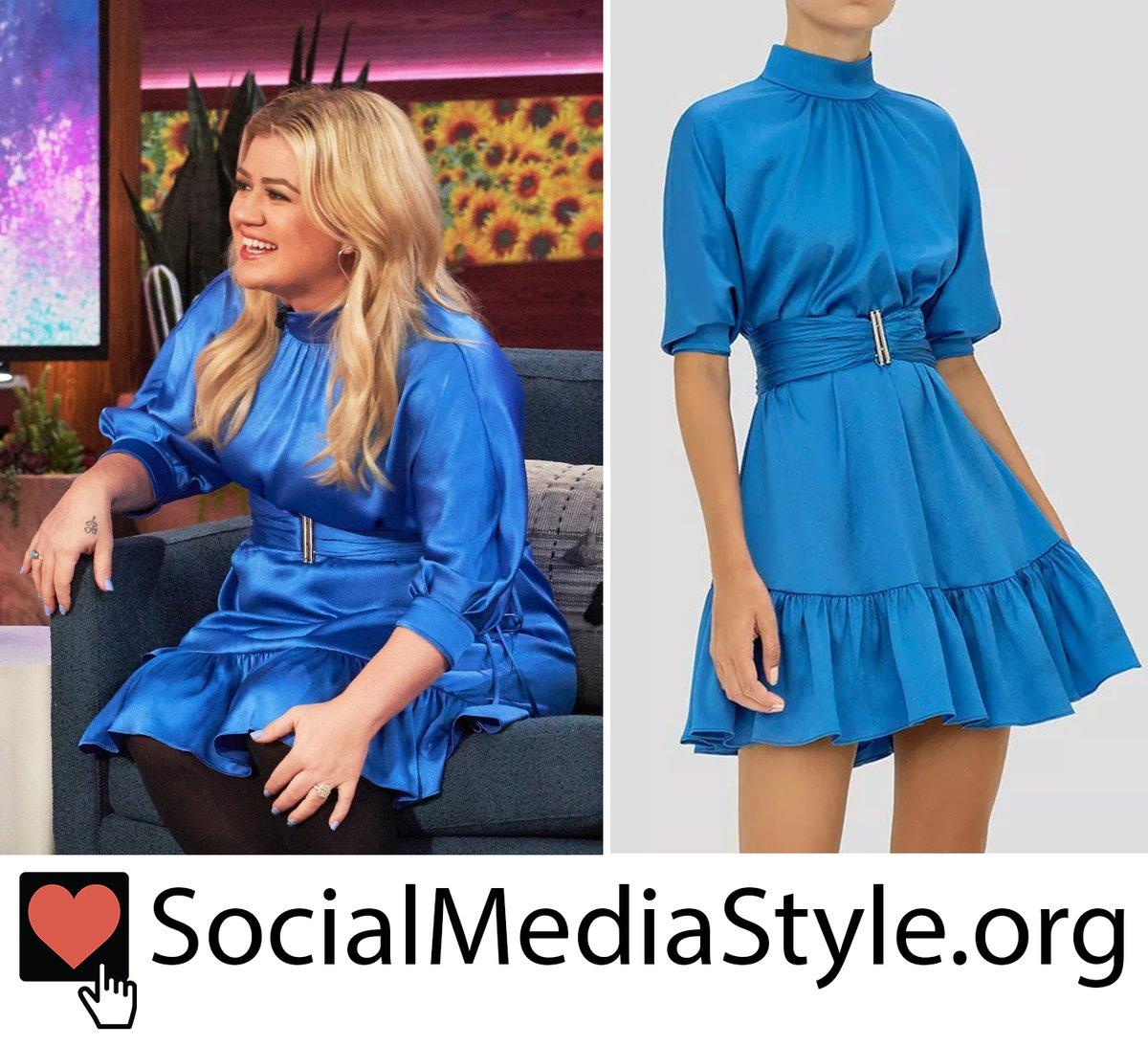 Buy @kellyclarkson's blue dress from @KellyClarksonTV here:  #TheKellyClarksonShow #KellyClarksonShow #KellyClarkson #bluedress #Alexis