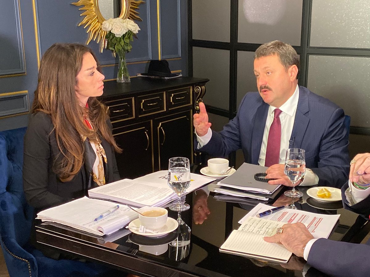"""CONFIRMED - @OANN's @ChanelRion concluded over a half dozen interviews with Ukrainian officials, including Ukrainian MP Andrii Derkach, pic shown.   Part III of """"Ukrainian Witnesses Destroy Schiff's Case w/ Rudy Giuliani"""" to air Saturday, Dec 15 at 10pm EST!<br>http://pic.twitter.com/9sQifKS9Fx"""