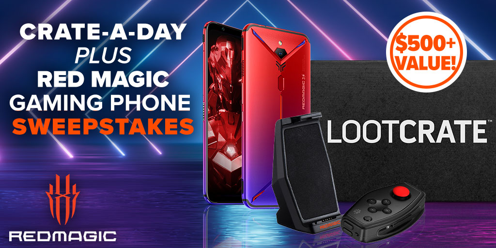 You could win one month of Loot Crate PLUS an awesome gift from our friends at @redmagicgaming during our Crate-A-Day Sweepstakes! Enter once a day here: